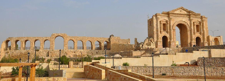 Hadrian Triumpfbogen in Jerash