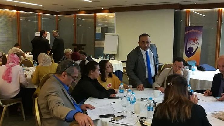 "Working groups on 'How to raise awareness on the Access to information law in Jordan"" and...."