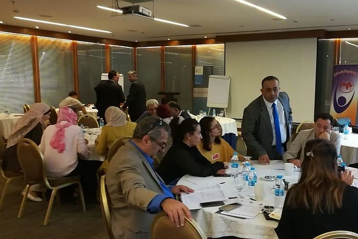 """Working groups on 'How to raise awareness on the Access to information law in Jordan"""" and...."""